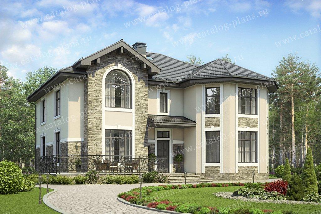 Проект жилой дом #40-11AG материал - кирпич, стиль европейский