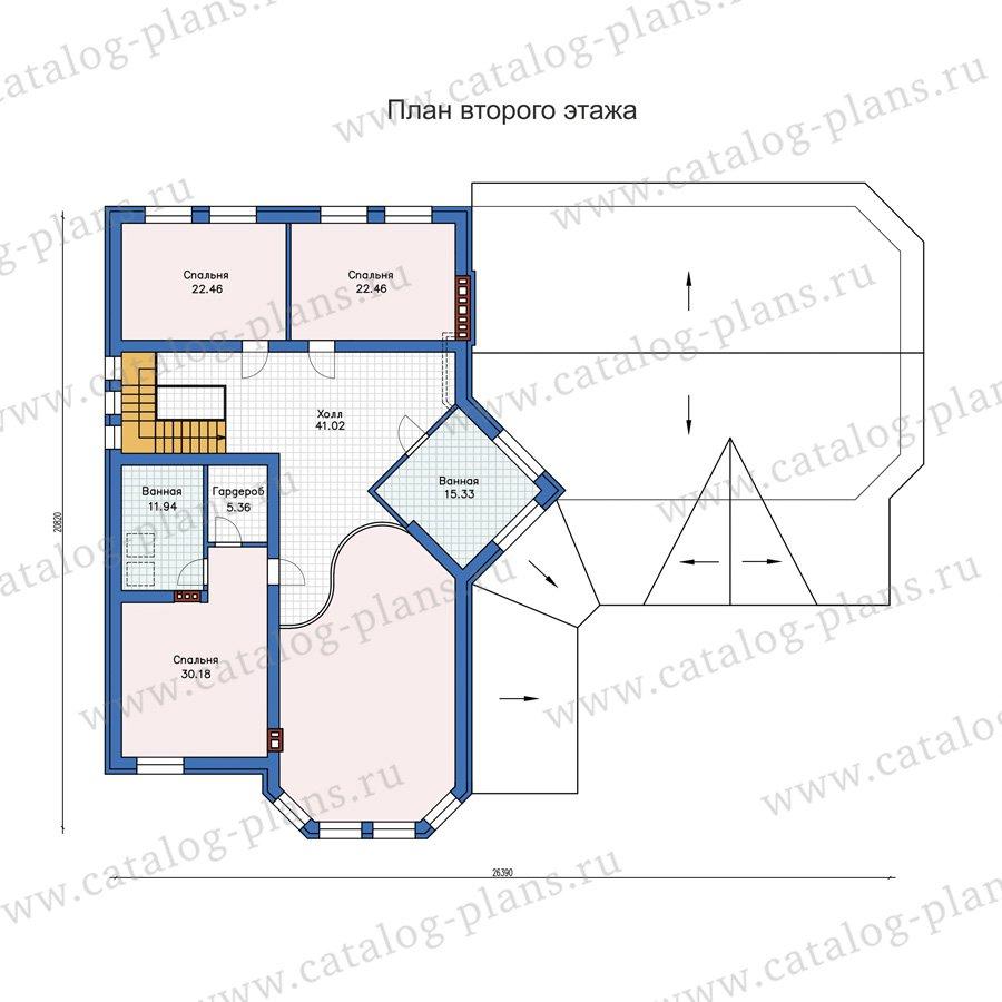 План 2-этажа проекта 58-32L