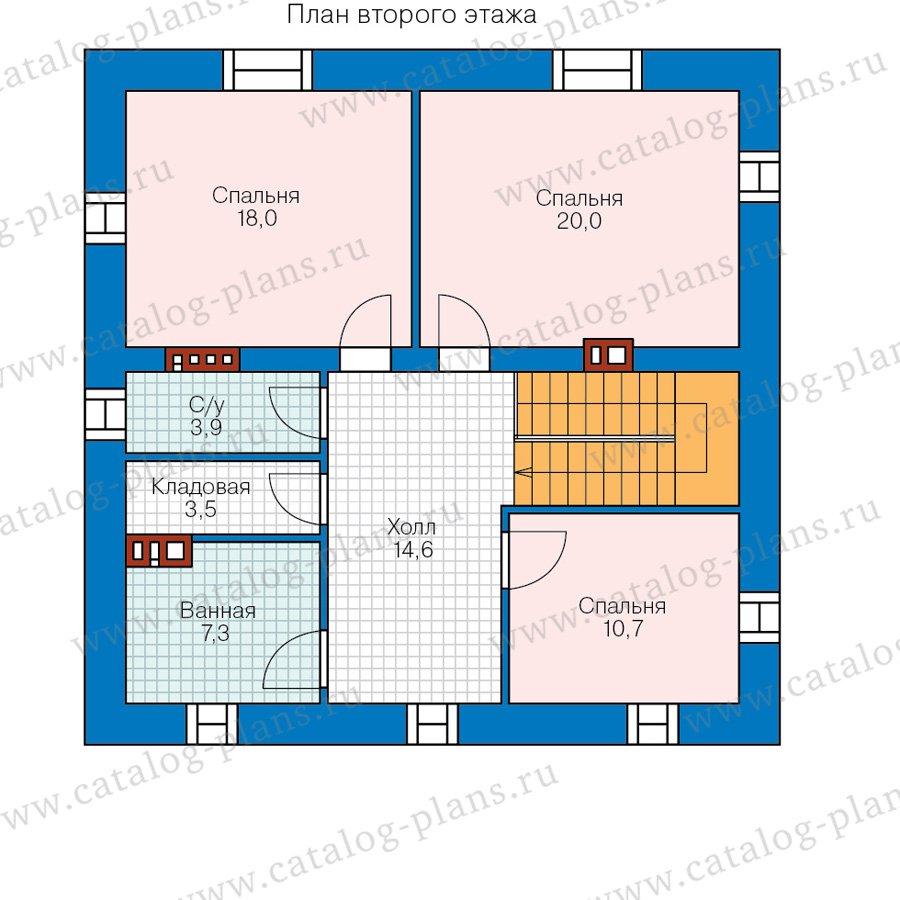 План 2-этажа проекта 57-05DKL
