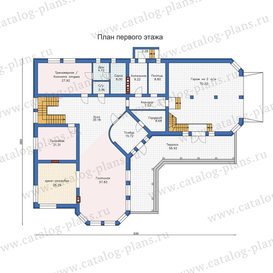 План 1-этажа проекта 58-32L