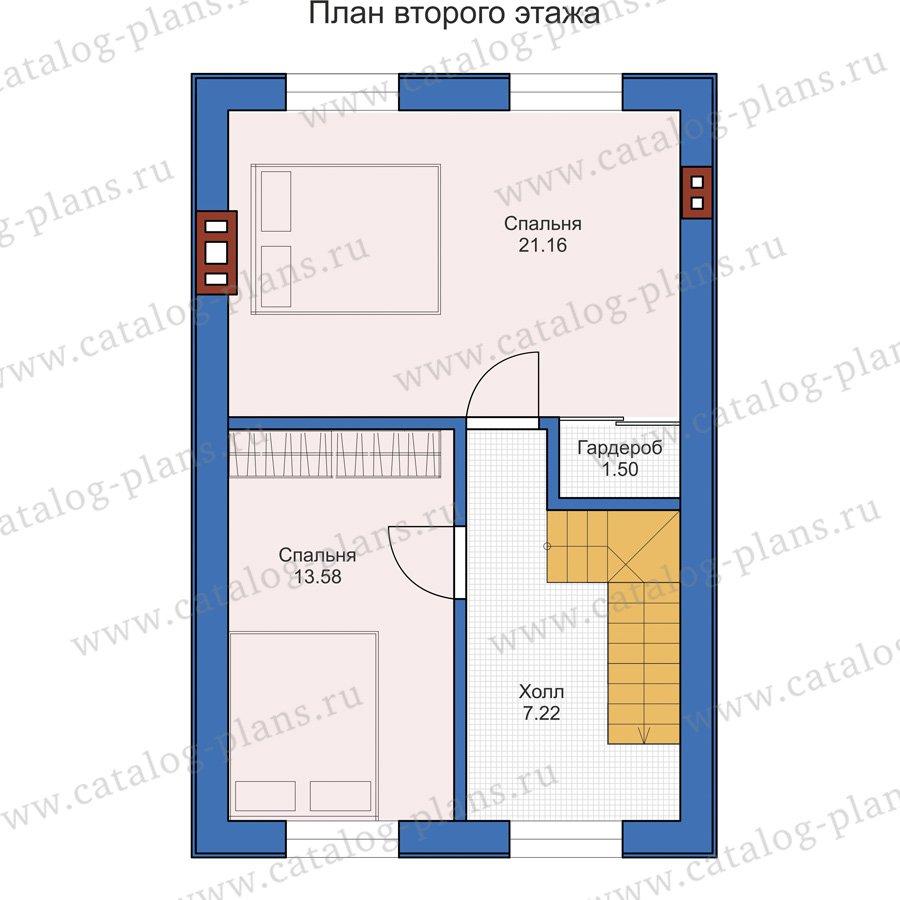 План 2-этажа проекта 58-67
