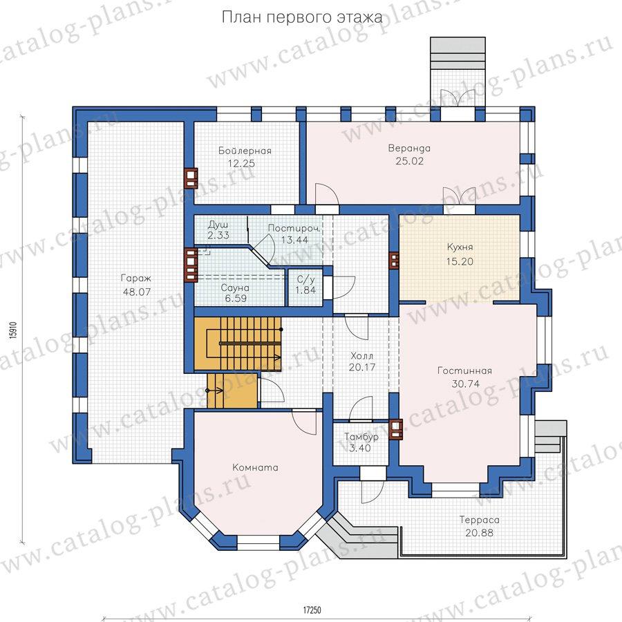 План 1-этажа проекта 40-49L