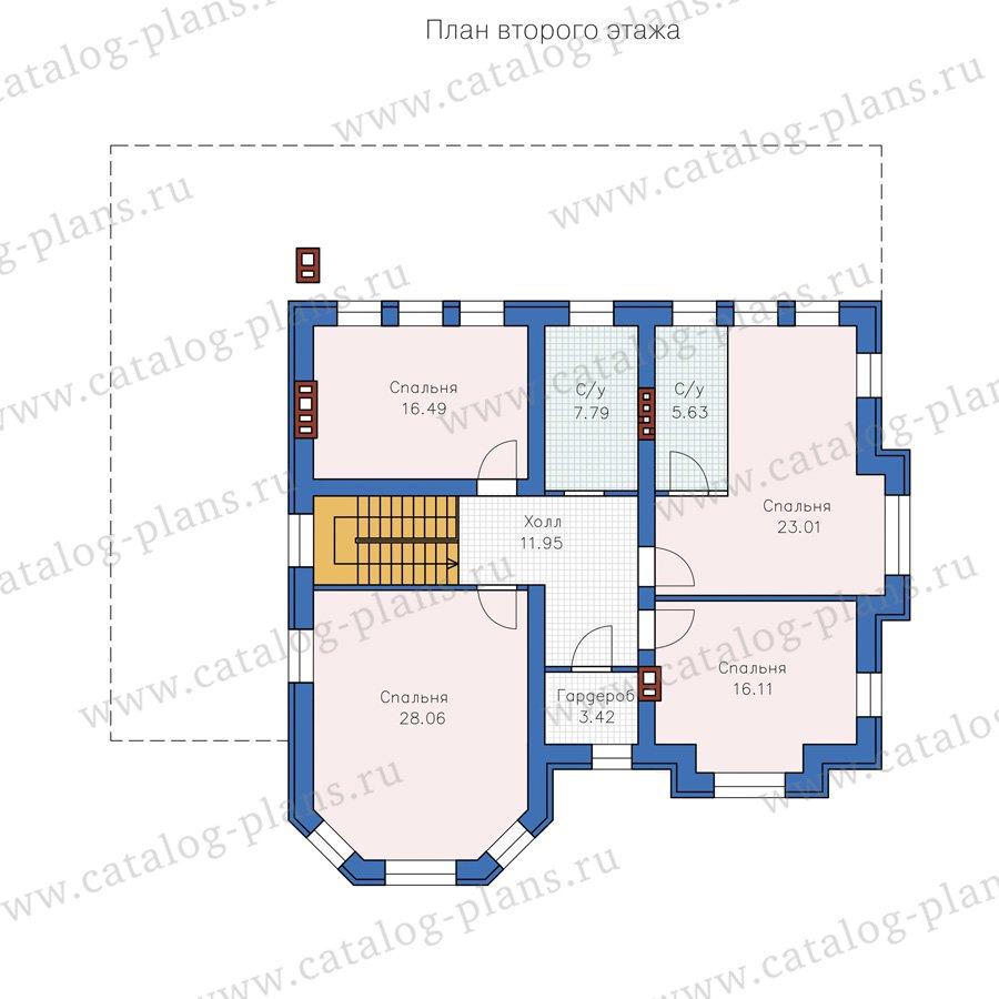 План 2-этажа проекта 40-49L
