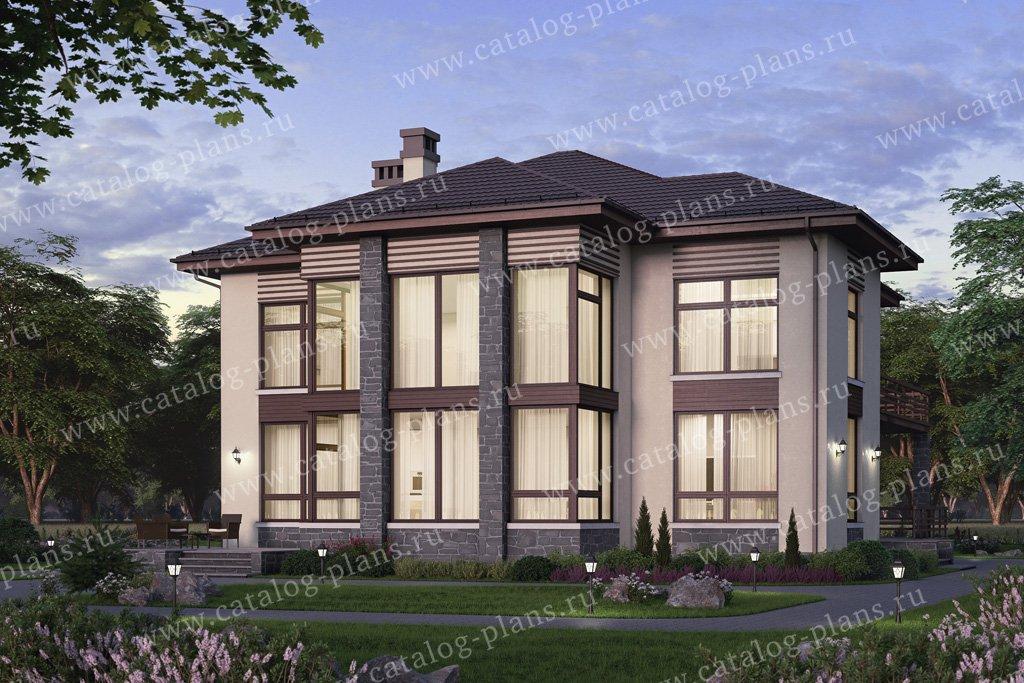 Проект жилой дом #58-62 материал - газобетон, стиль современный