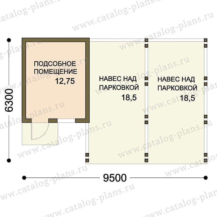 План 1-этажа проекта 70-80