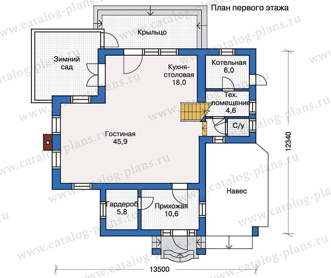 План 1-этажа проекта 51-14