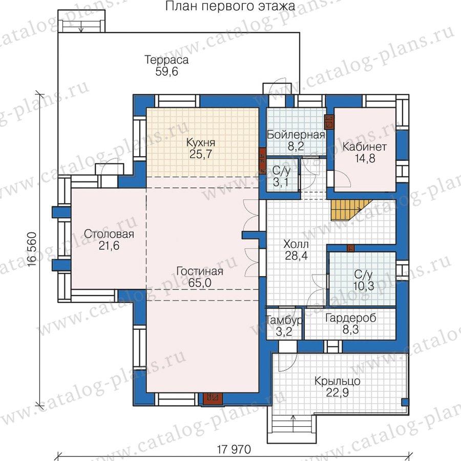 План 1-этажа проекта 58-62