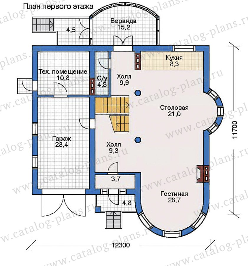 План 2-этажа проекта 50-75
