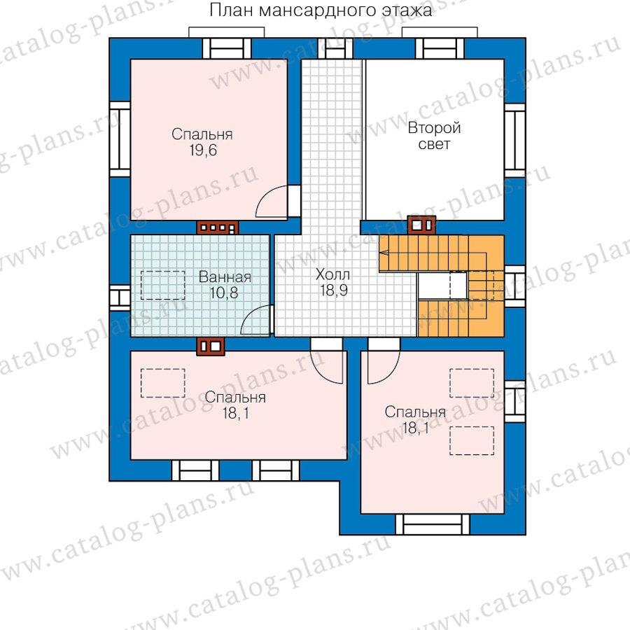 План 2-этажа проекта 57-42K