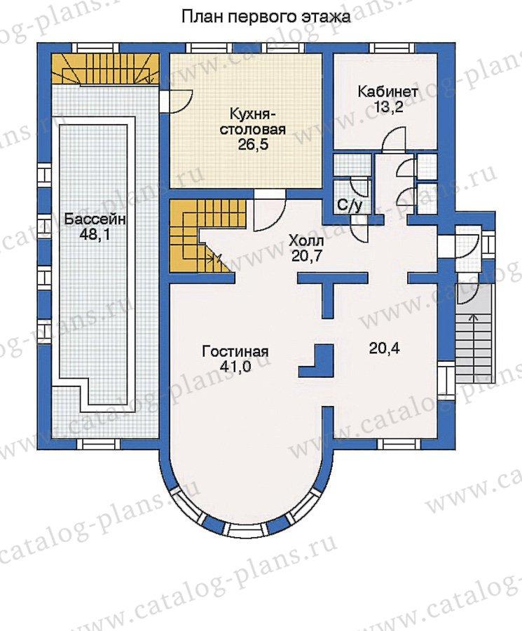 План 2-этажа проекта 50-42
