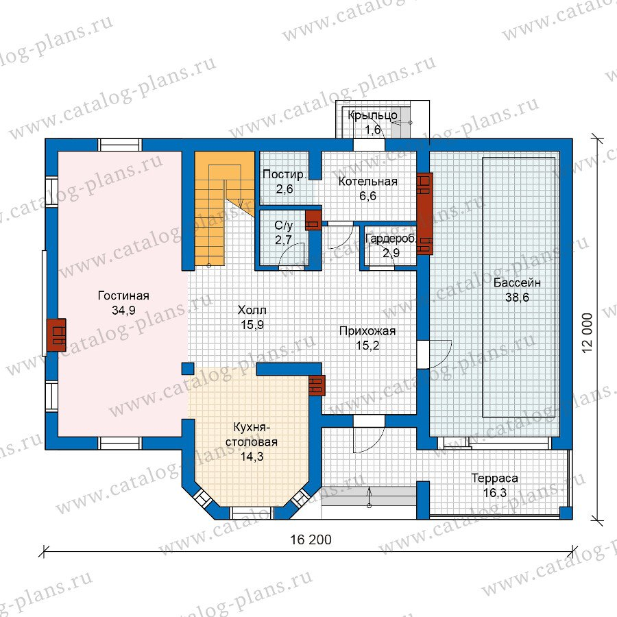 План 1-этажа проекта 57-25AK