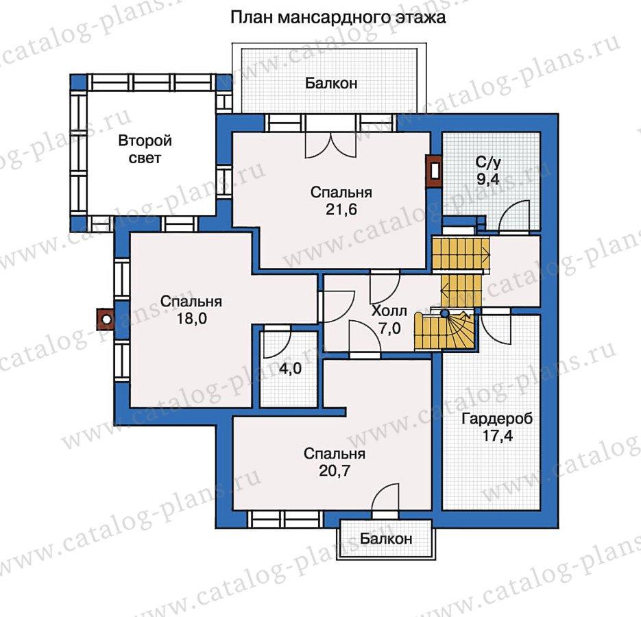 План 2-этажа проекта 51-14