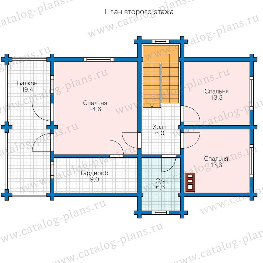 План 2-этажа проекта 80-15A