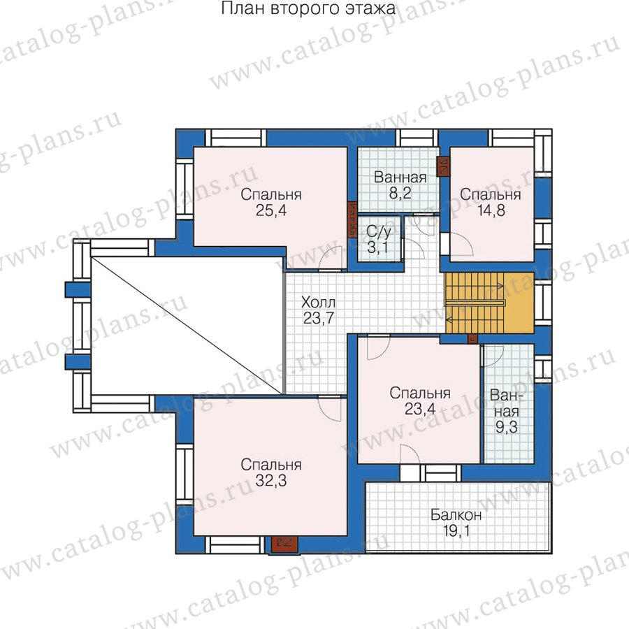 План 2-этажа проекта 58-62