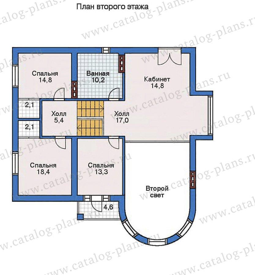 План 3-этажа проекта 50-75
