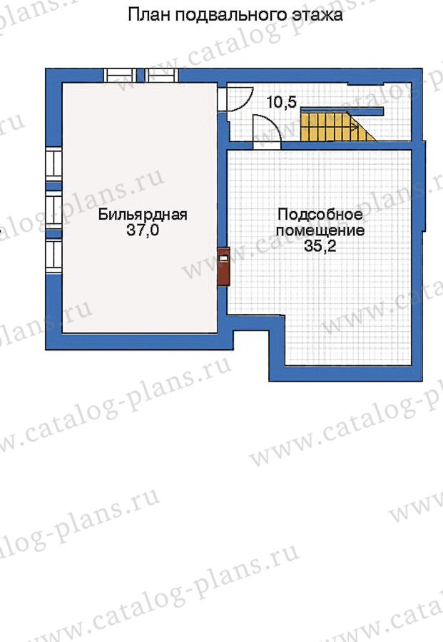 План 1-этажа проекта 50-43