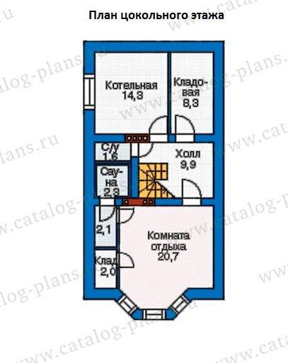План 1-этажа проекта 37-78