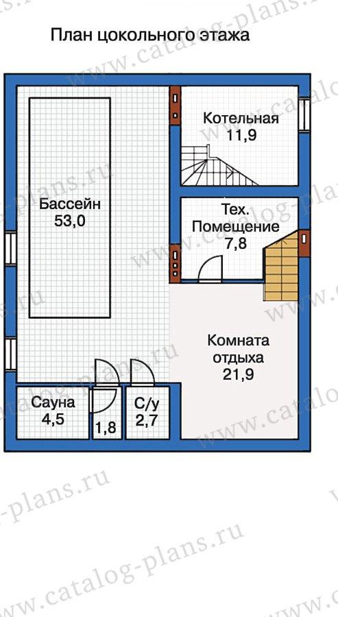 План 1-этажа проекта 50-17