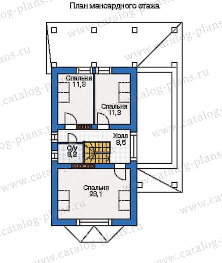 План 3-этажа проекта 37-78