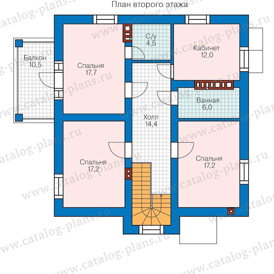План 2-этажа проекта 58-22A