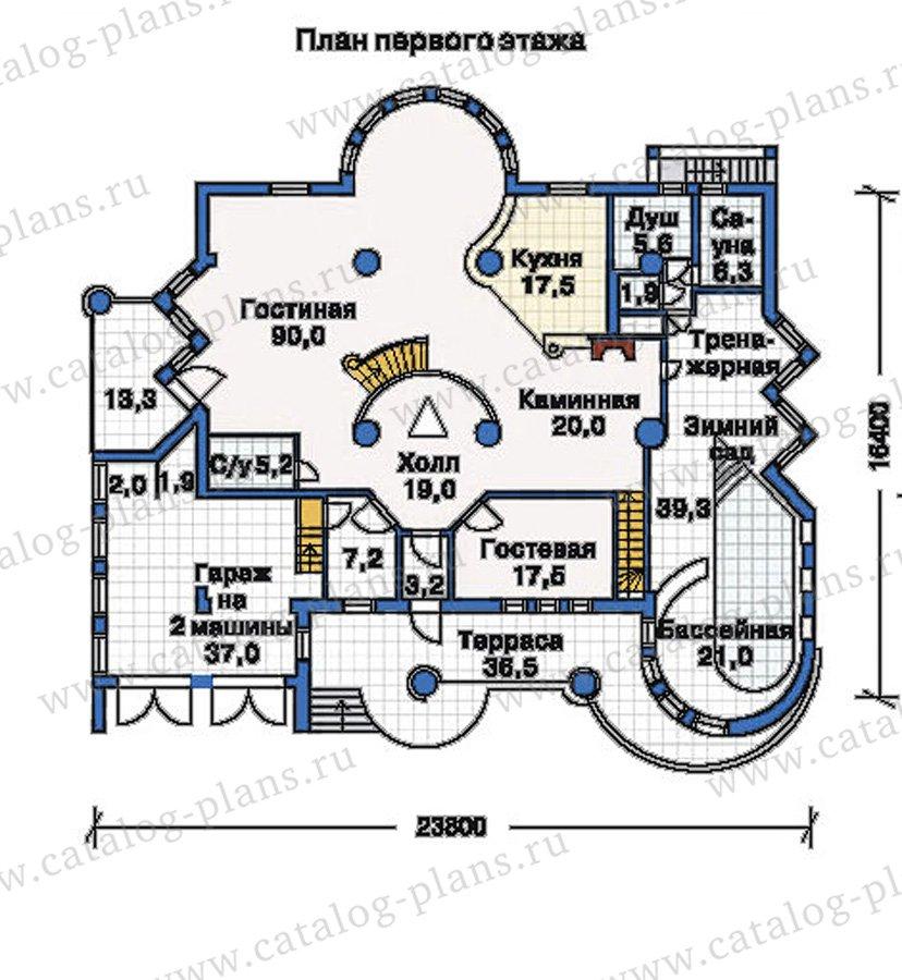 План 1-этажа проекта 51-35