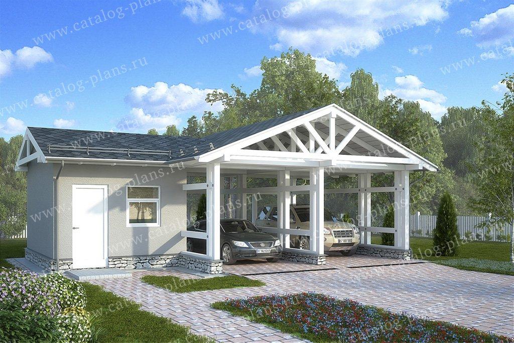 Проект гараж #70-80 материал - каркас, стиль скандинавский