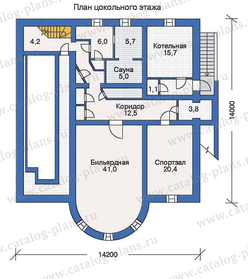 План 1-этажа проекта 50-42