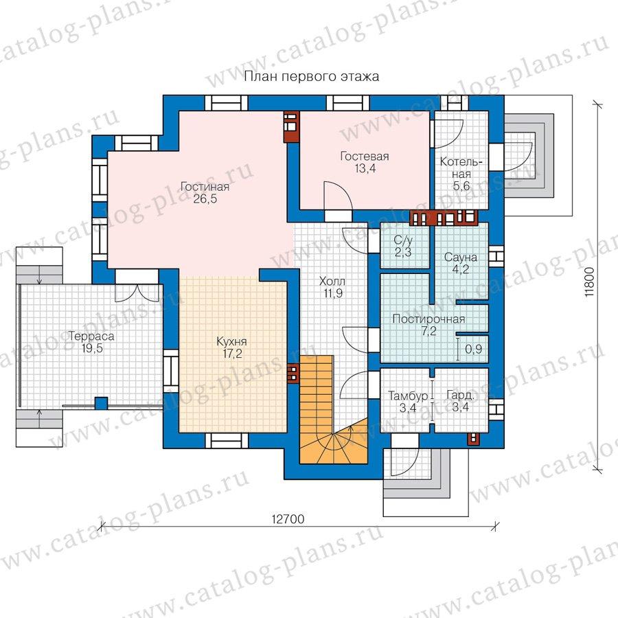 План 1-этажа проекта 58-22A