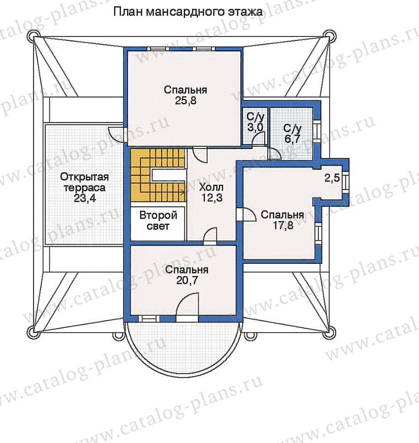 План 3-этажа проекта 50-42