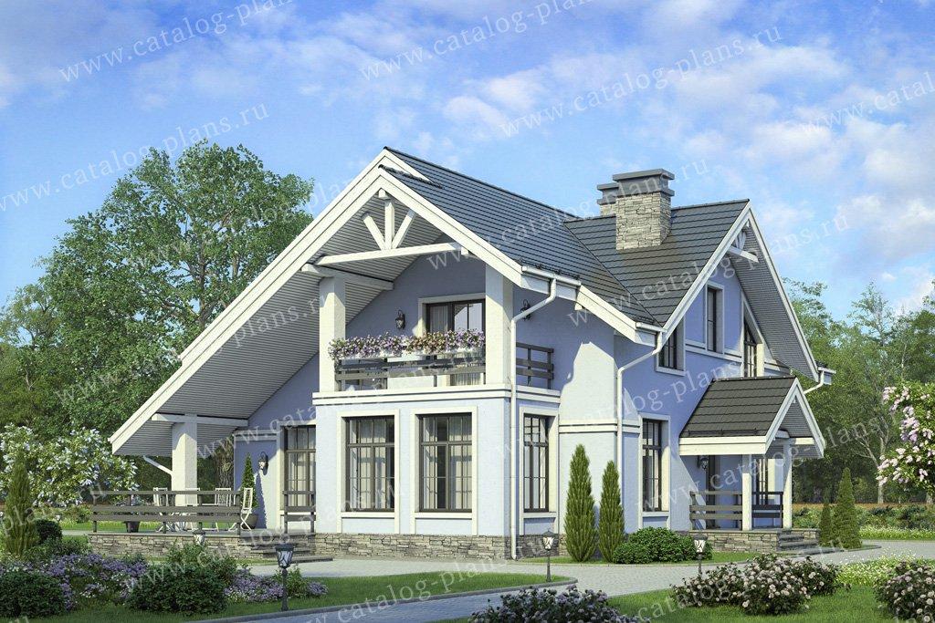 Проект жилой дом #58-22A материал - газобетон, стиль классический