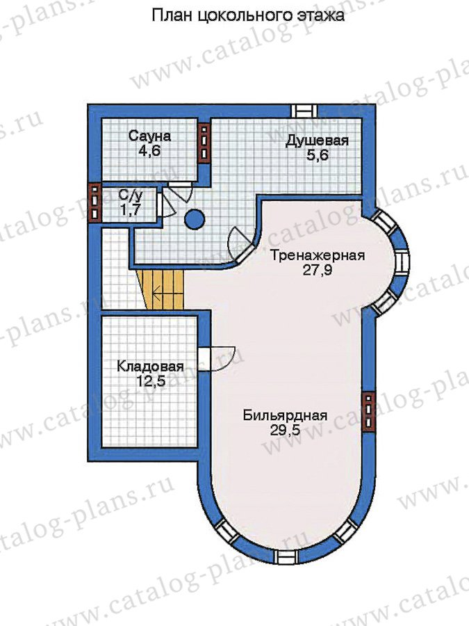 План 1-этажа проекта 50-75