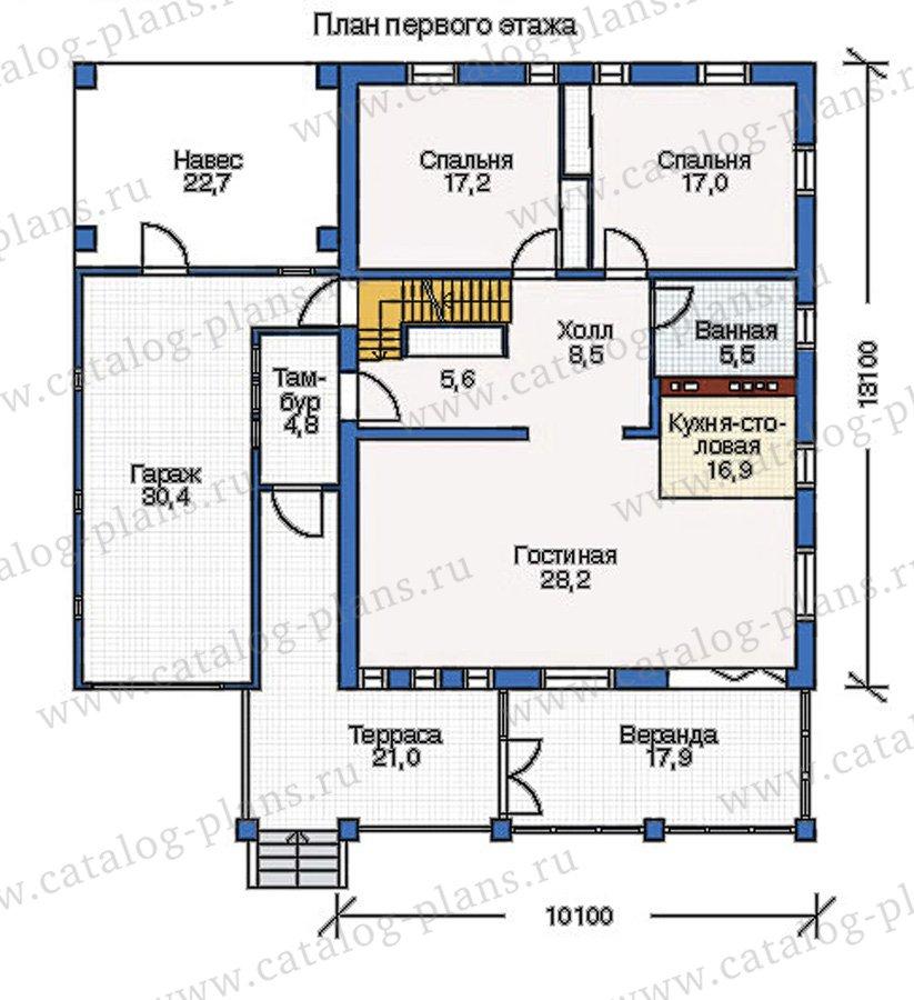 План 2-этажа проекта 50-01