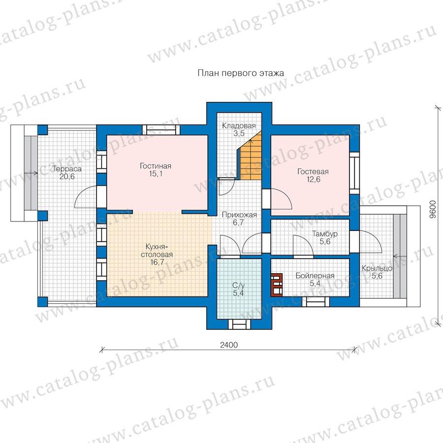 План 1-этажа проекта 80-15A