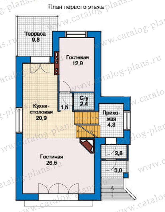 План 2-этажа проекта 49-27
