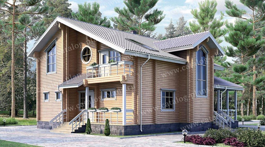 Проект жилой дом #10-90 материал - дерево, стиль европейский