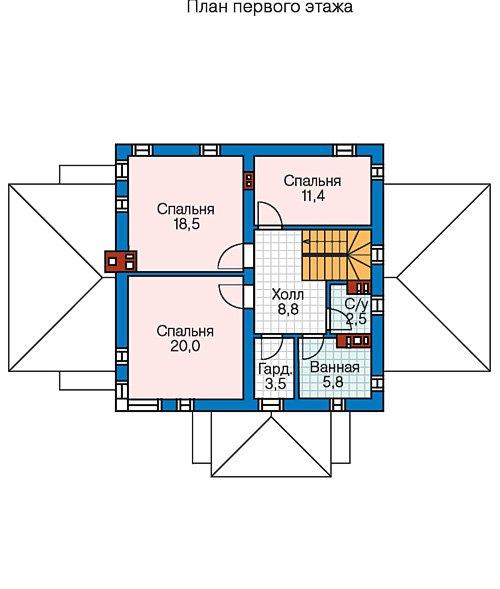 План 2-этажа проекта 57-65