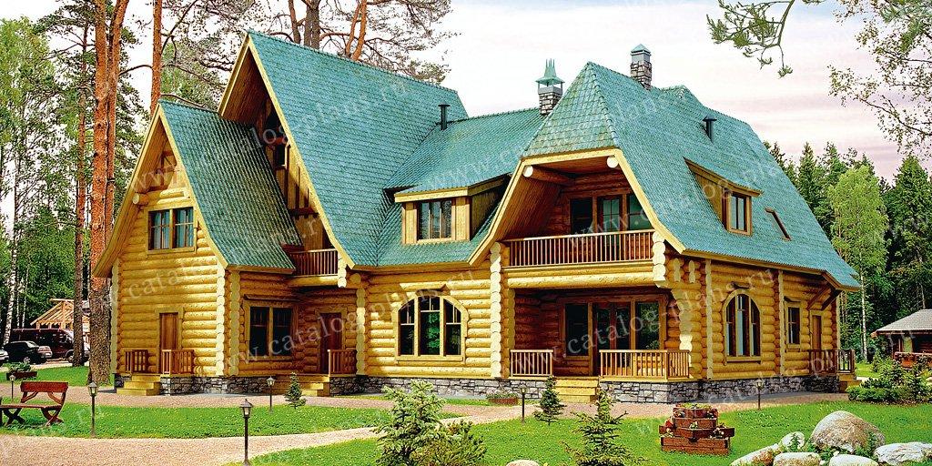Проект жилой дом #10-69 материал - дерево, стиль европейский