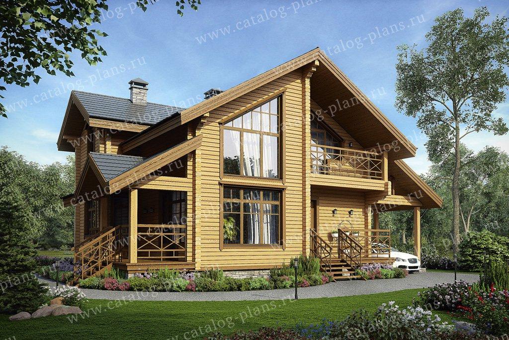 Проект жилой дом #11-89 материал - дерево, стиль скандинавский