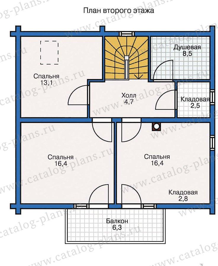 План 2-этажа проекта 10-26