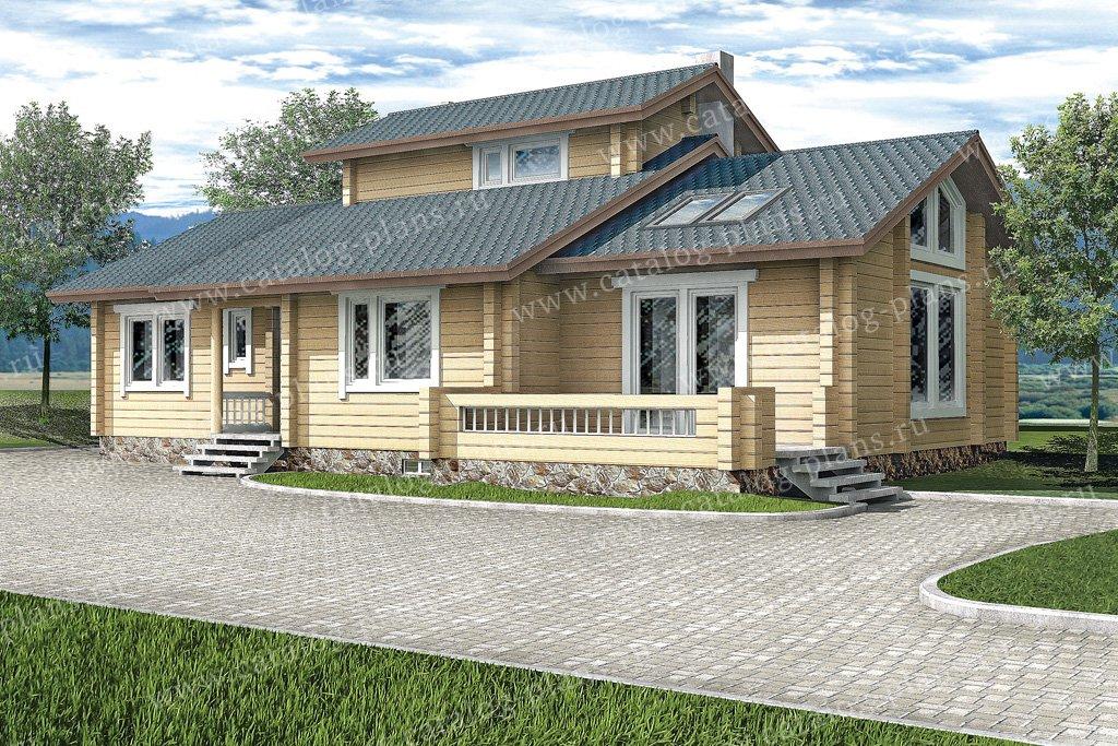 Проект жилой дом #10-48 материал - дерево, стиль шведский