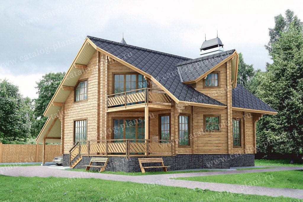 Проект жилой дом #10-51 материал - дерево, стиль современный