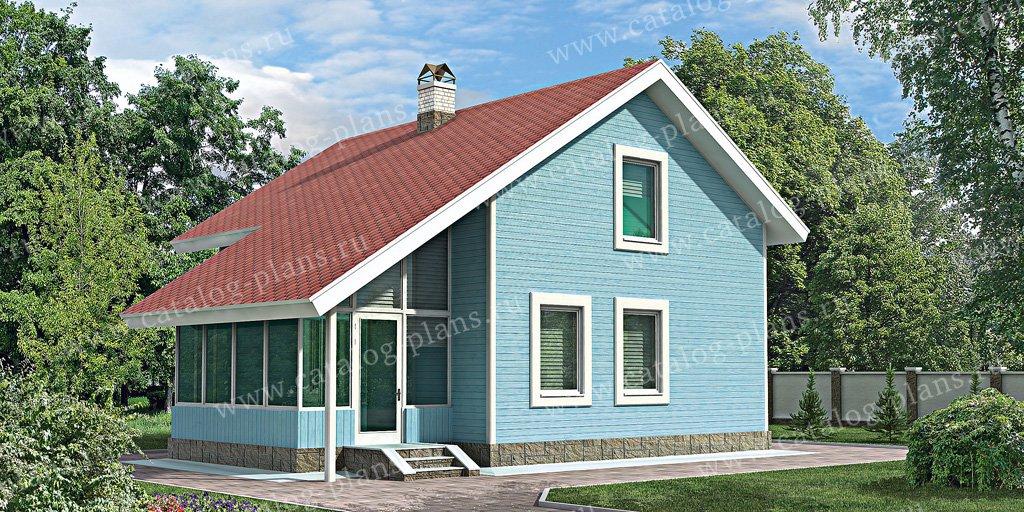 Проект жилой дом #10-66 материал - дерево, стиль современный