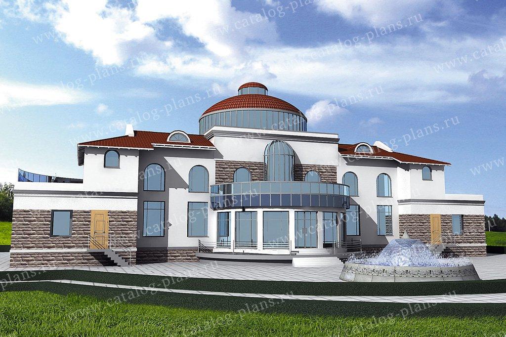 Проект жилой дом #31-27 материал - кирпич, стиль современный
