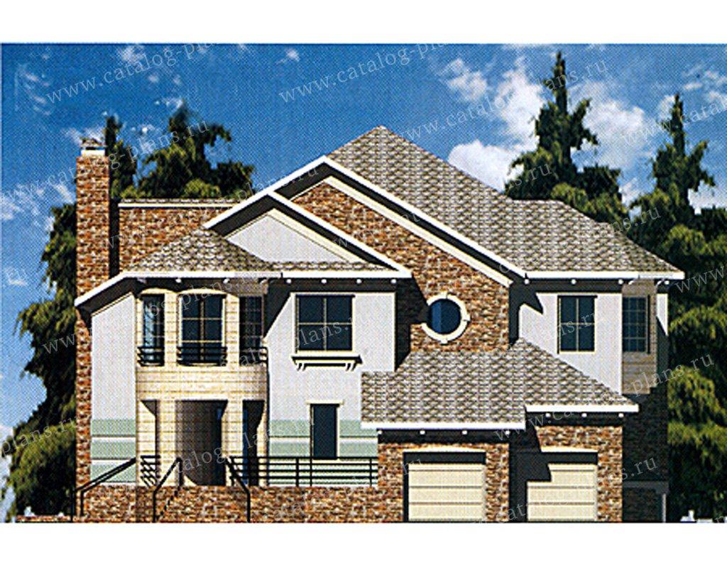 Проект жилой дом #31-08 материал - кирпич, стиль немецкий