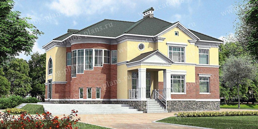 Проект жилой дом #31-14 материал - кирпич, стиль американский