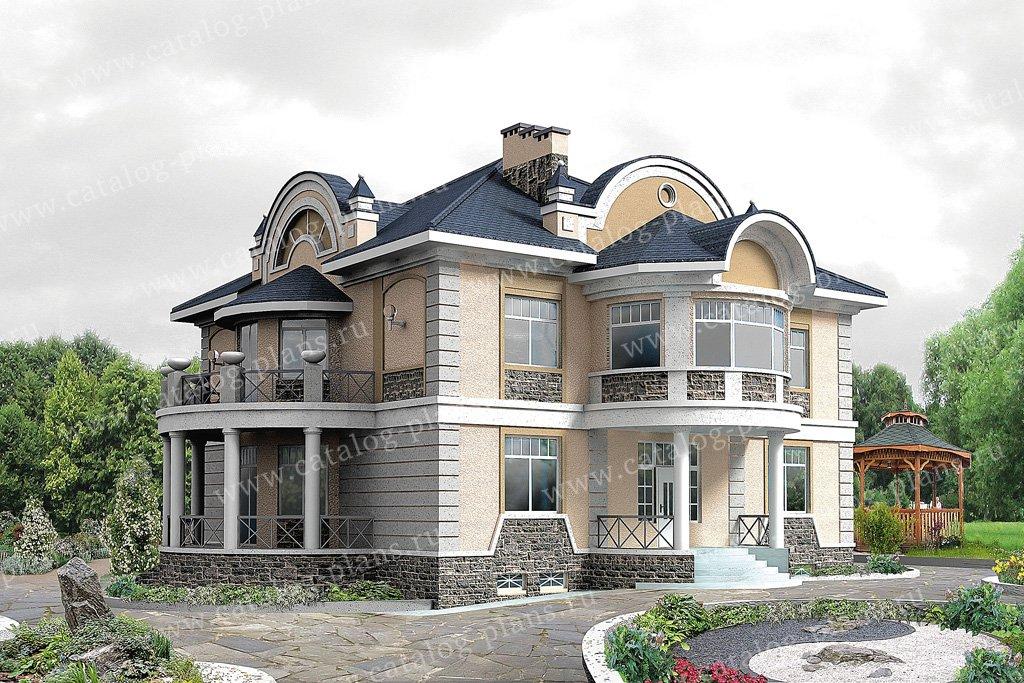 Проект жилой дом #31-24 материал - кирпич, стиль классический