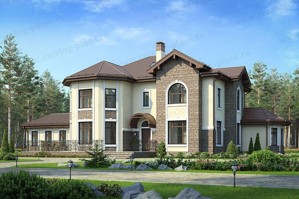 Проект жилой дом #48-29A материал - кирпич, стиль европейский