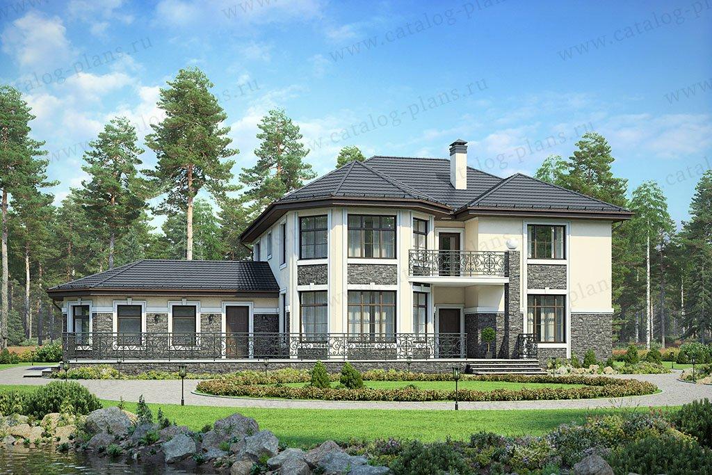 Проект жилой дом #48-32G материал - газобетон, стиль современный