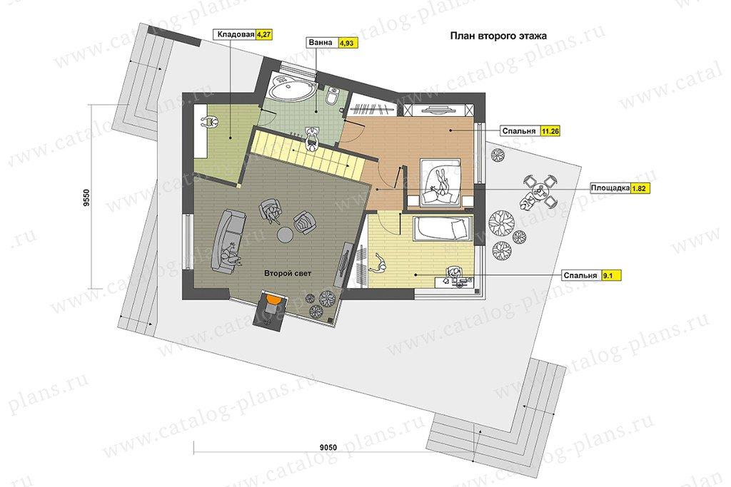План 2-этажа проекта 60-89