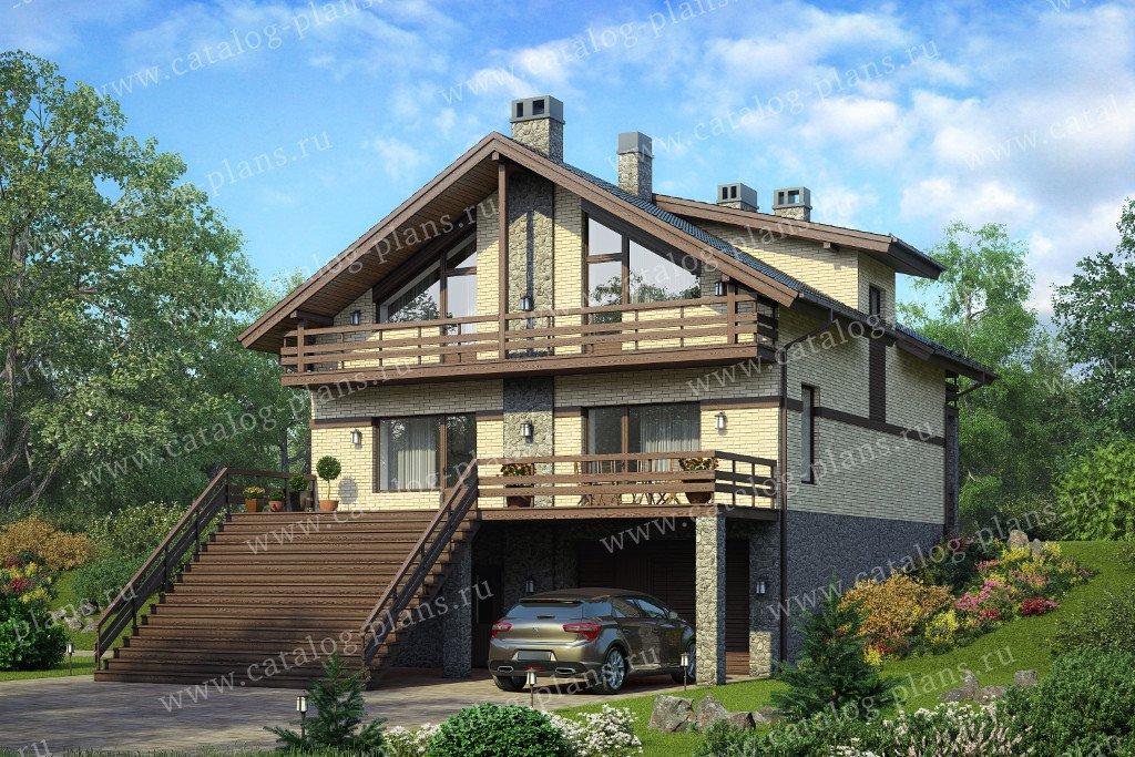 Проект жилой дом #59-98B материал - газобетон, стиль классический
